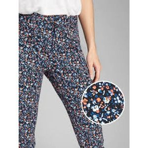 GAP Signature Skinny Ankle Floral High Rise Jeans